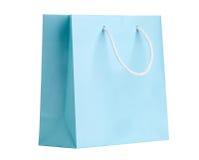 Blaue shopping bag. Royalty Free Stock Photography