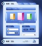 Blaue site-Auslegung-Elemente Lizenzfreies Stockbild