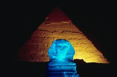 Blaue Sphinx Lizenzfreie Stockfotos