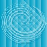 Blaue Spirale über Hintergrund Lizenzfreies Stockbild