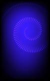 Blaue Spirale lizenzfreie abbildung