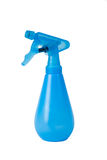 Blaue Sprühflasche lokalisiert Lizenzfreies Stockfoto