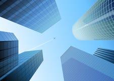 Blaue Stadt Stockbilder