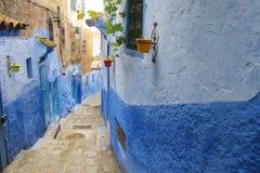 Blaue Stadt Chefchaouen-Straße Stockfotos