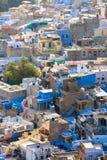 Blaue Stadt von Jodhpur, Rajastan, Indien Stockfotos
