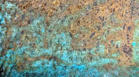 Blaue Stahlplatte verrostete bis zum Zeit lizenzfreie stockfotos