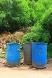 Blaue Stauräume Lizenzfreie Stockfotos