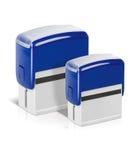 Blaue Stempel stockbilder