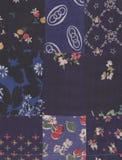 Blaue Steppdecke Stockbild