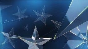 Blaue Stern-Hintergrund-Schleife stock video
