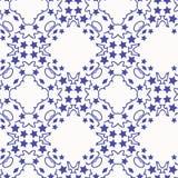 Blaue Sterne des Musters Lizenzfreie Stockbilder