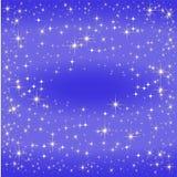 Blaue sternkundliche Karte, die Milchstraße Stockbild