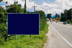 Blaue Straßenschilder Lizenzfreie Stockfotos