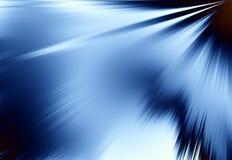 Blaue Strahlen des Leuchte-Hintergrundes Stockbild