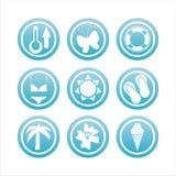 Blaue Strandzeichen stock abbildung