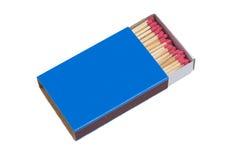 Blaue Streichholzschachtel Lizenzfreies Stockfoto