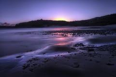 Blaue Stunde bei drei Clffs der Bucht lizenzfreie stockfotos
