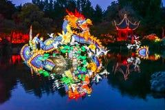Blaue Stunde im chinesischen Garten stockfotografie