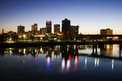 Blaue Stunde in Little Rock lizenzfreies stockbild