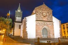 Blaue Stunde Madeira-Kathedrale stockfotografie