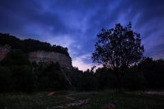 Blaue Stunde Maly Chlum Stockbild