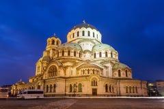 Blaue Stunde Sofia Cathedral lizenzfreie stockfotos