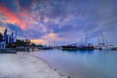 Blaue Stunde und wonderfull Indonesien Asien cloudy2 Batam Lizenzfreies Stockbild