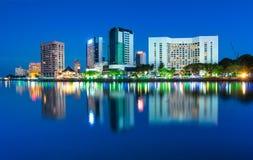 blaue Stunden an Kuching-Stadt Lizenzfreie Stockfotos