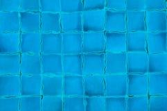 Blaue Swimmingpoolfliesen Lizenzfreies Stockbild