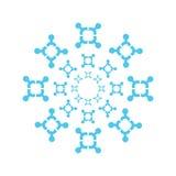 Blaue symetric vektorauslegung lizenzfreie abbildung