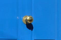 Blaue Tür Stockfoto