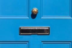 Blaue Tür Stockfotografie