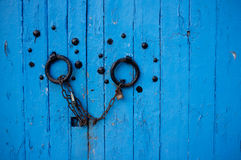 Blaue Tür Lizenzfreies Stockfoto