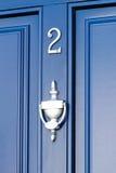 Blaue Tür - Nr. 2 Stockfoto