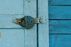 Blaue Türen Stockfotografie