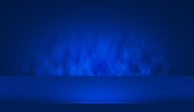 blaue Tabelle des Schaukasten-3D Stockfotos