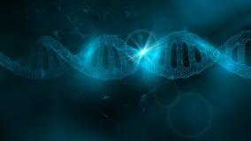 Blaue Tapete oder Fahne mit eine DNA-Molekülen von Polygonen stock abbildung