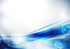 Blaue techno Schablone Lizenzfreies Stockfoto