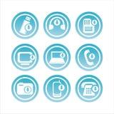 blaue Technologie mit Pfeilzeichen stock abbildung
