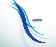 Blaue Technologiewelle des abstrakten Hintergrundes Lizenzfreies Stockbild