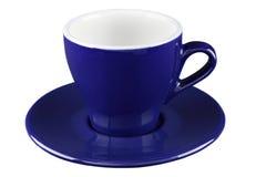 Blaue Tee- und Kaffeetasse Lizenzfreie Stockfotos