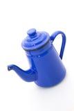 Blaue Teekanne Stockfoto