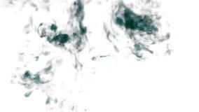 Blaue Tinte oder Rauch für Effekt und das Compositing VFX-Tinte bewölkt sich oder Rauch mit Alphamaske Superzeitlupeschussnahaufn lizenzfreie abbildung