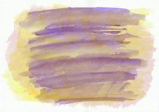 Blaue trockene horizontale gezeichneter Hintergrund des Aquarells Hand Schöne diagonale harte Anschläge des Pinsels Lizenzfreies Stockfoto