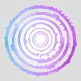 Blaue u. purpurrote Zusammenfassung Stockbild