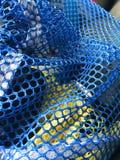 Blaue und gelbe Filetarbeit Lizenzfreie Stockbilder