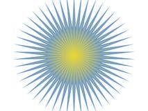 Blaue und gelbe Sonne Stockfotos