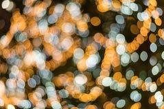 Blaue und gelbe Zusammenfassung undeutlicher heller bokeh Hintergrund für overl lizenzfreies stockfoto