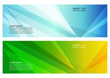 Blaue und grüne Farbgeometrischer abstrakter Hintergrund mit Kopienraum, Vektorillustration für Fahne Ihres Geschäfts Stockbild