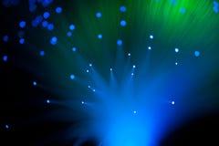 Blaue und grüne Lichter Stockfoto
